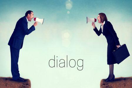 Styr på dialog