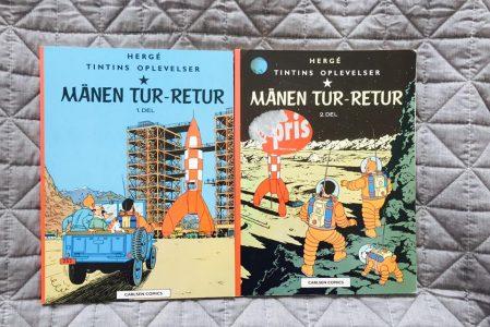 Med Tintin til månen og retur